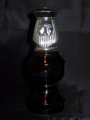 Vintage Avon Bottle Decanter - King Chess Piece - Oland After Shave Amber Glass