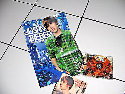 "JUSTIN BIEBER ""My World"" 2009  CD, Poster & Lyric & Photo Booklet Included"