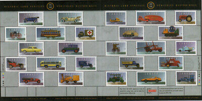 HISTORIC VEHICLES-5 = Retro auto = SS of 25 stamps Canada 1996 MNH #1605 (5/5)
