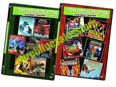 The Toho Godzilla Collection 13 Movies Complete Volumes 1 & 2 DVD Set Series Lot