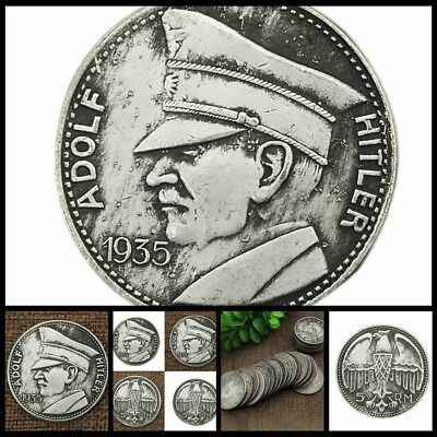 Cool Silver Plated Coin Germany Hitler Commemorative Coin Old Collection Gift