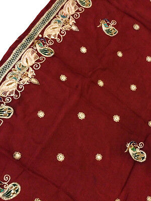 Vintage Heavy Dupatta Antique Women Bridal Long Scarf Embroidered Stole HD1012