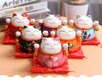 Tirelire chat Manekineko céramique Japon Lucky Cat fortune bonheur chance
