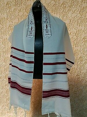 "Talit,Tallit, prayer shawl - 100% WOOL 27""X72"" - MADE IN ISRAEL"