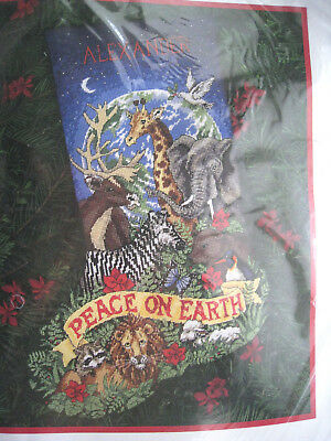 Dimensions Christmas Needlepoint Stocking Kit,PEACEFUL EARTH,Animals,9116,16""