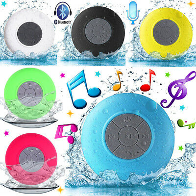 Hands-free Wireless Bluetooth Speaker Suction Waterproof Car Shower Music Mic