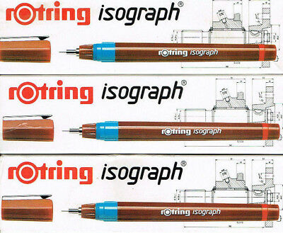 rOtring Isograph Tuschefüller  0,13, 0,18, 0,25, 0,35, 0,5, 0,7, 1,0, 1,4, 2 mm