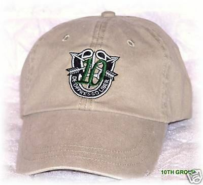 Army Airborne Green Beret Special Forces Operations 10Th Group Ops Cap Hat