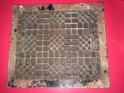 Antique Tuttle & Bailey Floor Register Grate Vent Grill Cast Iron Louvers 12-14""
