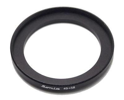 Metal Step up ring 49mm to 58mm 49-58 Sonia New Adapter