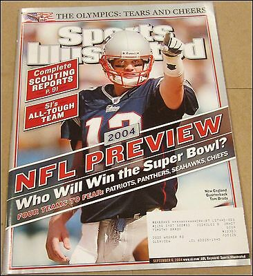 9/6/2004 Sports Illustrated Tom Brady New England Patriots NFL Preview Olympics