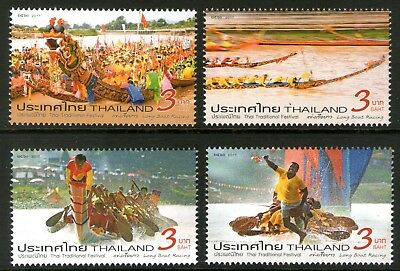 Thailand 2017 Long Boat Racing set of 4 Mint Unhinged