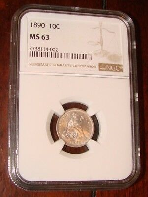 1890 Seated Liberty Silver Dime! Graded by NGC MS 63! MERRY CHRISTMAS! L@@k