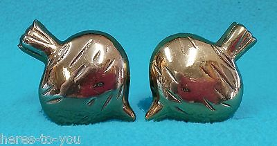 "Lot of 2 Vintage 2"" BEET Cabinet Knobs~Brass~Garden~Drawer Pull~Dwight Schrute"