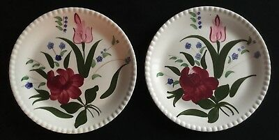 Lot 2  Blue Ridge Southern Potteries  9 1/8 Inch Floral Dinner Plates