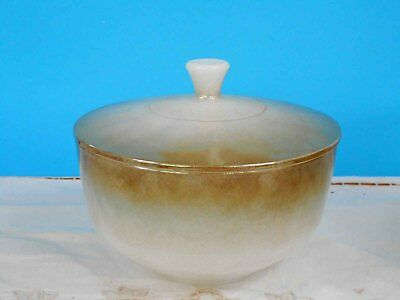 Vintage Pyrex, Milk Glass Federal 'Mesa' Casserole/Grease Jar - Excellent Cond.