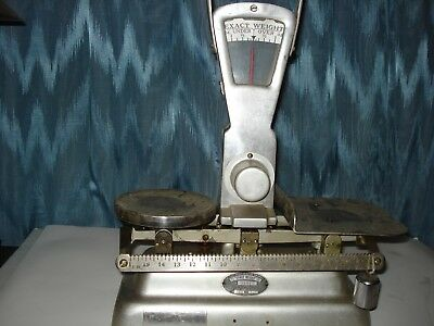 Vintage Exact Weight Balance Scale 1940's Type 103 Cap.3Lbs Ser.# 98917 Made Usa