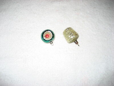Two interesting vintage ornaments. Mid-century, great for small tree!