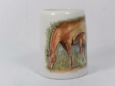 "Vtg Enesco 1983 Horse Mug, Mother & Colt, 4 1/2"", Local Free Shpg, GC"