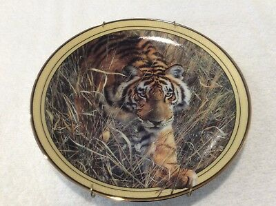 Tiger Plate On the Prowl, Signed, Listed on the Bradford Exchange