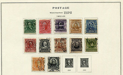 1902-1903 USA.  Part set of 12 USED.
