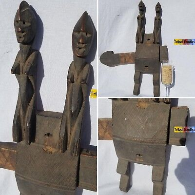 PREMIUM Tribal African Art - Dogon Granary Door Lock Figure Sculpture Statue