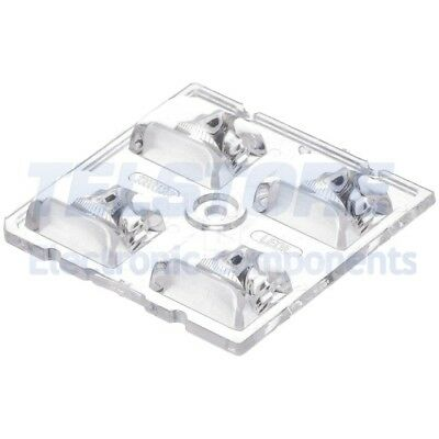 2pcs  Lentille LED carré transparent H 7,7mm