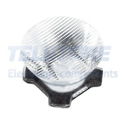 2pcs  Lentille LED rond transparent 7,5/55° Fixation ruban adhésif