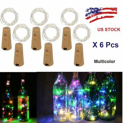 1~6pcs Wine Bottle Cork Lights String Lights Bottle Stopper Lamp Night Lights