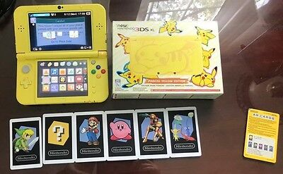New Nintendo 3Ds XL :Special Pikachu Edition Yellow latest model Pokemon boxed