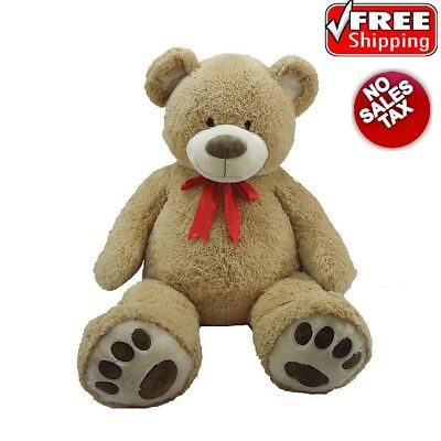 """Big Teddy Bear with Ribbon 59"""" Giant Plush Huge Stuffed for Valentines Day Gift"""