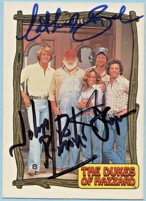 Dukes Of Hazzard Catherine Bach Tom Wopat John Schneider Signed Card Photo Proof