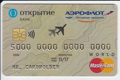 credit card specimen