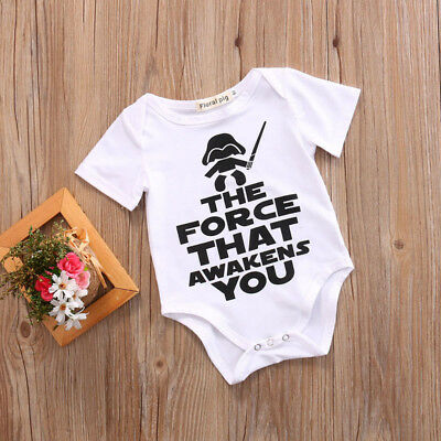 US Force That Awakens You Star Wars Toddler Newborn Baby Girl Boy Romper
