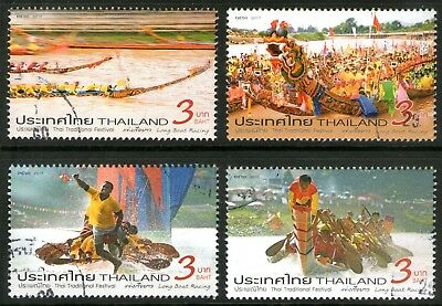 Thailand 2017 Long Boat Racing set of 4 Fine Used