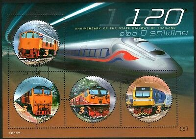 Thailand 2017 State Railway of Thailand Miniature Sheet Fine Used