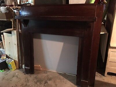 Vintage Craftsman Fireplace Mantle