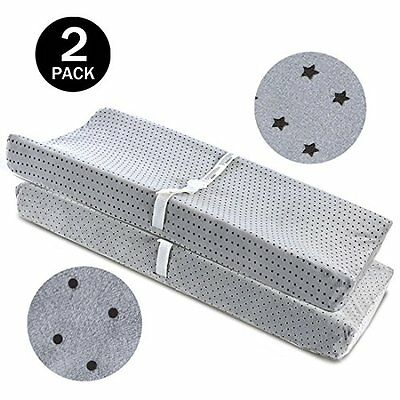 Changing Pad Covers Cover Grey-BROLEX Pack Baby Diaper Change Covers-Stars Polka