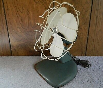 Antique Superior Electric 4-Blade Table Fan, Works