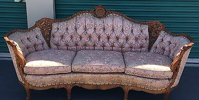 Antique Victorian Deutsch Bros.Custom Built 3 Seats Couch - Local Pickup Only