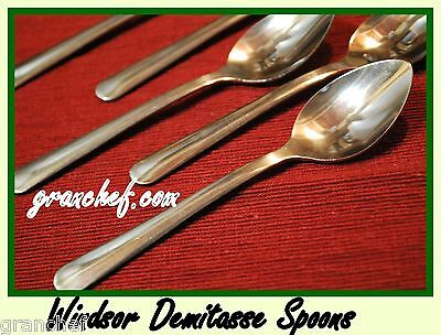 "Demitasse Spoons - Windsor Pattern ~ 36 pieces ~  New In Boxes - SS 4 3/4"" Long"