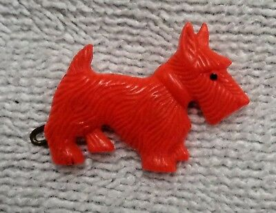 Scotty Scottie Dog Shaped   Red  Plastic Barrette  Set of Two