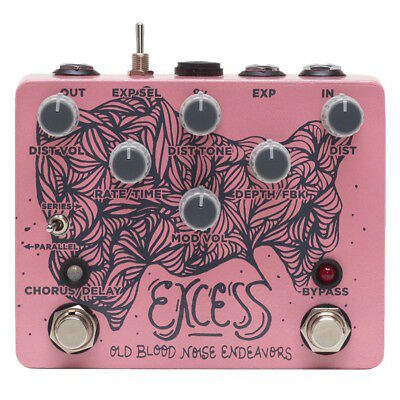 Old Blood Noise Endeavors Excess Distortion Chorus Delay - Authorized Dealer