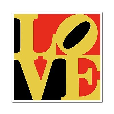 "LOVE Poster Ultra-High Quality Archival Print Indiana Black & Red 24"" x 24"""