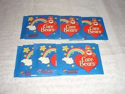 Lot of 6 Vintage 1985 Panini Care Bears Sticker Packs Many SEALED