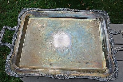 Silver Plated Serving Tray Wm Rogers