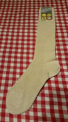 Vintage 1970s sock BNWT Girls Beige/Cream TextureSocks EU35-38 UK 2-4 Bnwt Retro