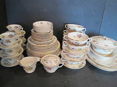 Syracuse China, Old Ivory, Selma, Consomme Bowls, Dinner Plates HUGE 63 Pieces