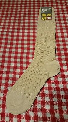 Ladies Vintage '70s sock BNWT Beige/Cream Textured Socks EU39-42 (6-9)Bnwt Retro
