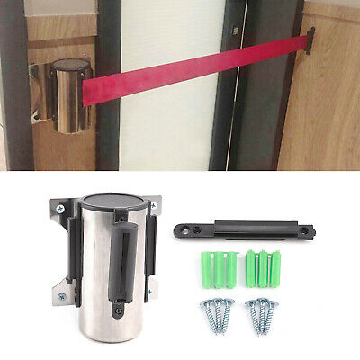 2M/3M Belt Stanchion Queue Barrier Wall Mount Retractable Ribbon Crowd Control